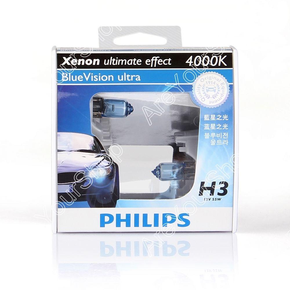 หลอดไฟ Phillip BVU 4000K H3 55W 60/55W