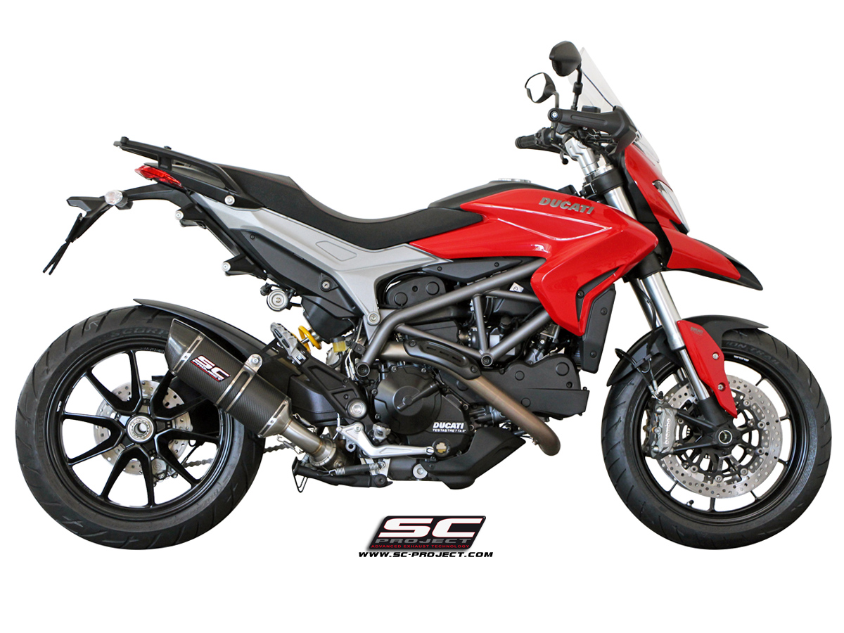 SC Project Oval Carbon Low Position for Ducati Hyperstrada 821