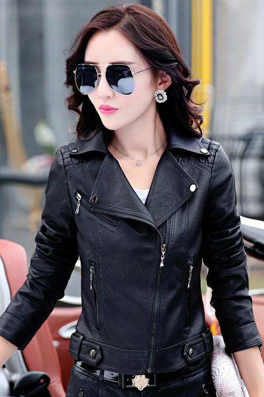 เสื้อแจ็คเก็ต เสื้อหนังแฟชั่น พร้อมส่ง สีดำ หนัง PU คุณภาพงานพรีเมี่ยม งานเหมือนแบบ 100 % ค่ะ