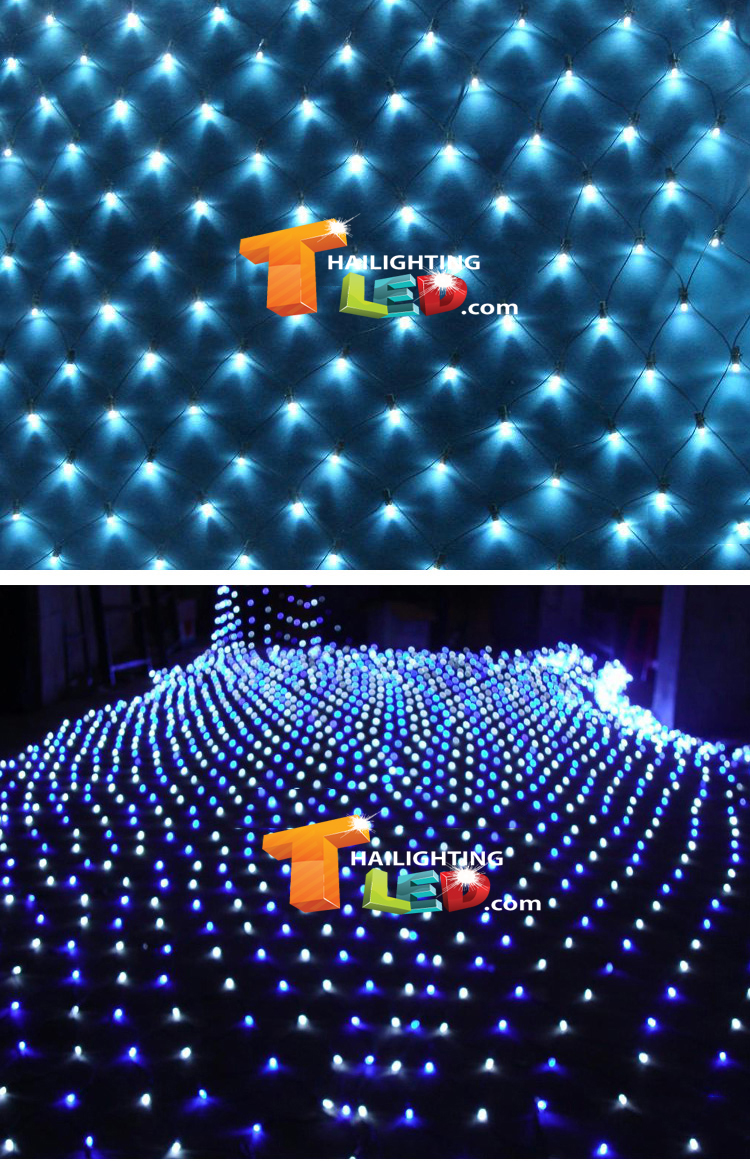 ไฟตาข่าย LED สีฟ้า ขนาดเล็ก