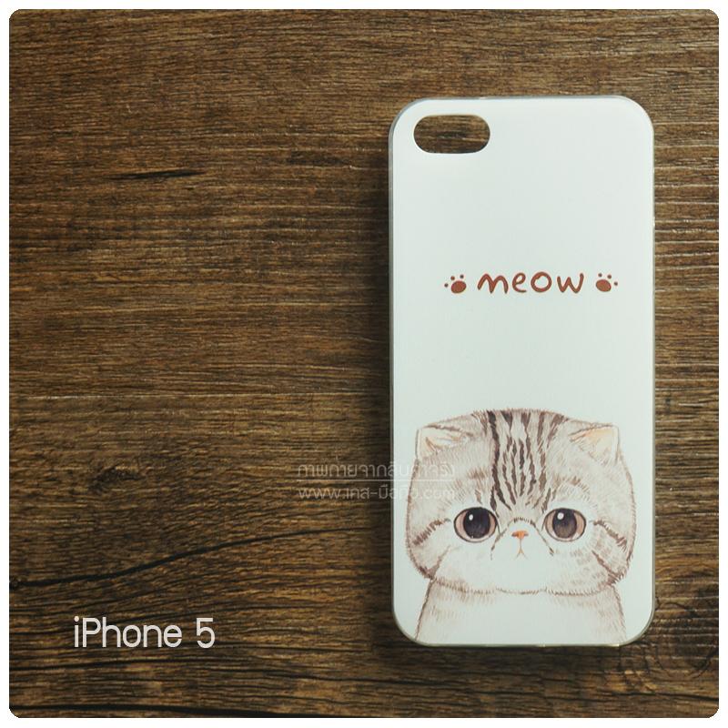 เคส iPhone 5 / 5S / SE เคสนิ่ม TPU พิมพ์ลาย ลายแมว 2