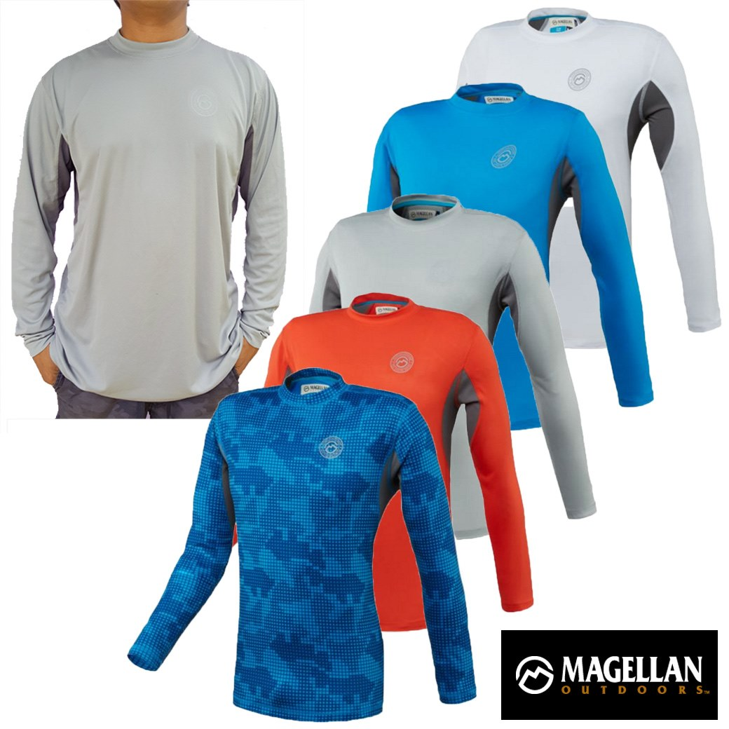 Magellan Outdoors Men's Long Sleeve Performance T-shirt