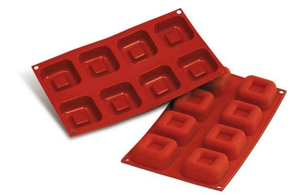 Silikomart พิมพ์ซิลิโคน SF082 Big Square Savarin
