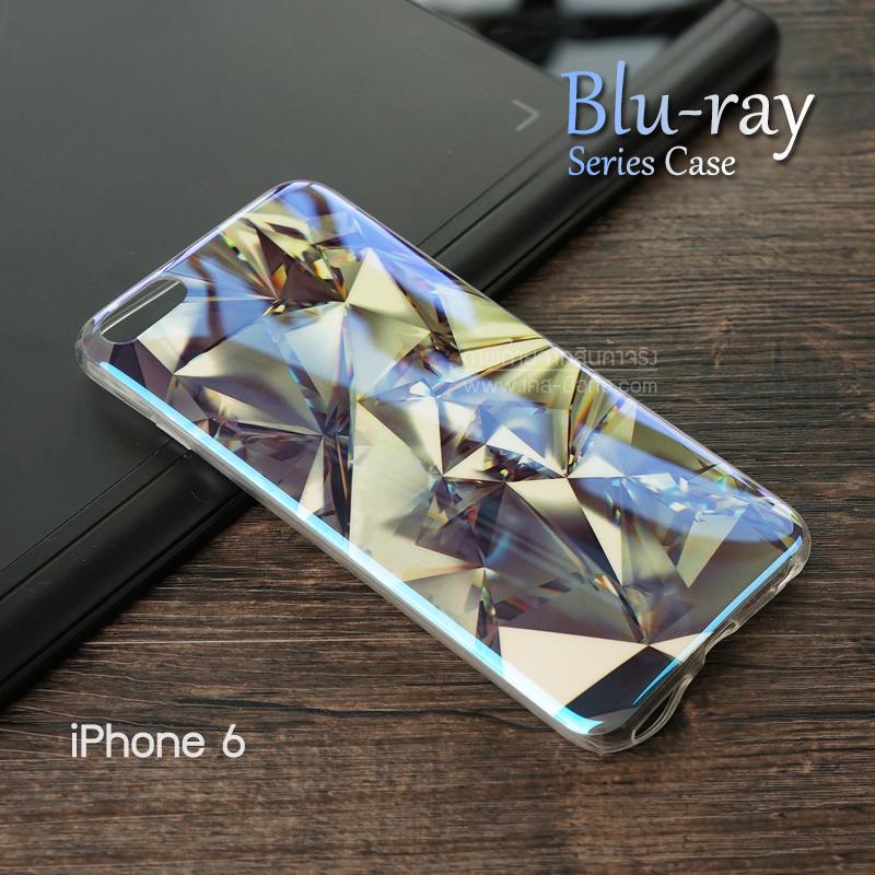 เคส iPhone 6 / 6S (4.7 นิ้ว) เคส TPU พื้นผิวเงาสะท้อน (Blu-ray Series) แบบที่ 13 คริสตัล