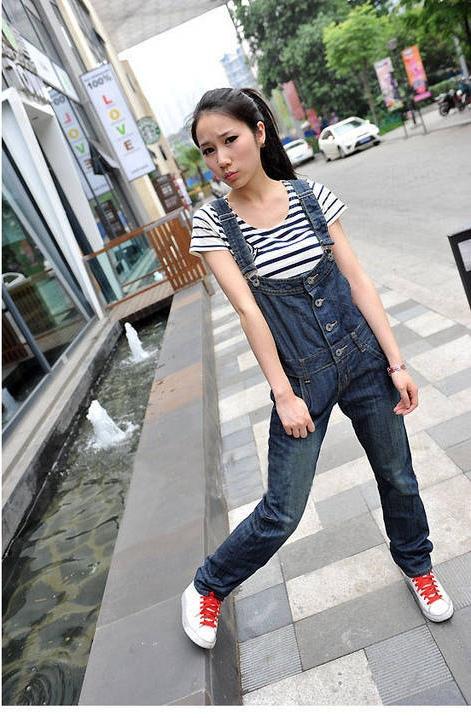 OW5707001 เอี้ยมยีนส์ สาวหวานซ่อนเปรี้ยว ขายาว น่ารัก แฟชั่นเกาหลี (พรีออเดอร์) รอสินค้า 3 อาทิตย์หลังโอนเงิน