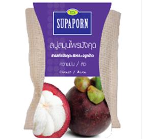 Supaporn สบู่สมุนไพรมังคุดสปา สารสกัดมังคุด+BHA+จมูกข้าว ปริมาณสุทธิ 70 กรัม