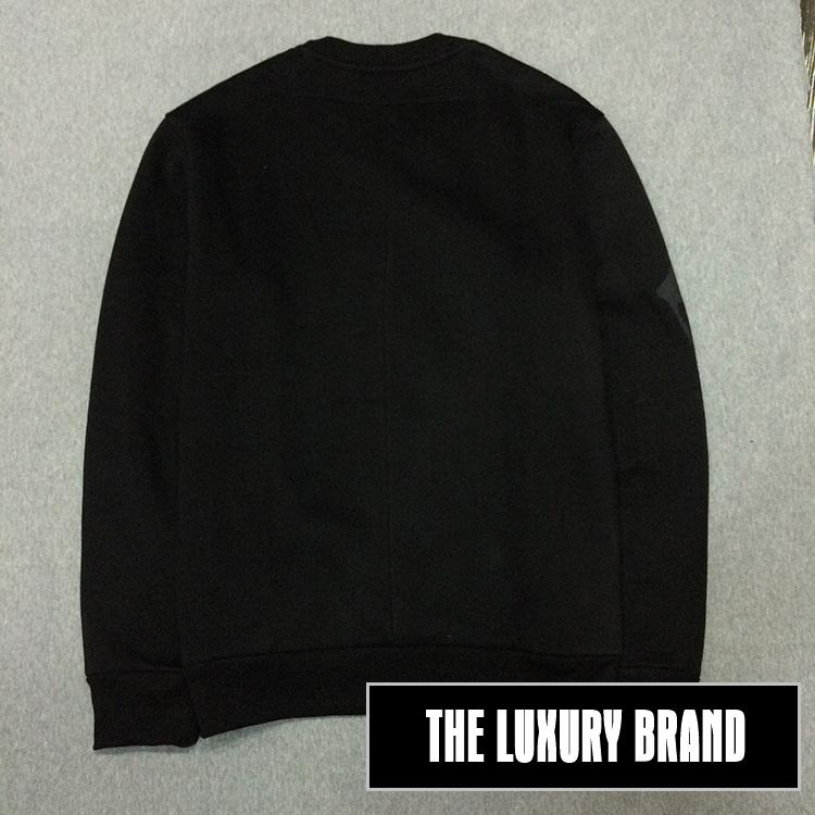 GIVENCHY เสื้อแขนยาวคอกลม ผ้าคอตตอน ลาย Rottweiler สีดำ Detail 2