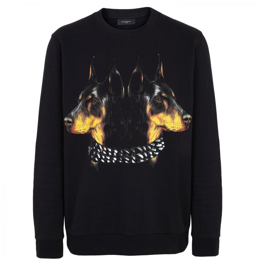Givenchy Doberman Print Black Sweatshirt