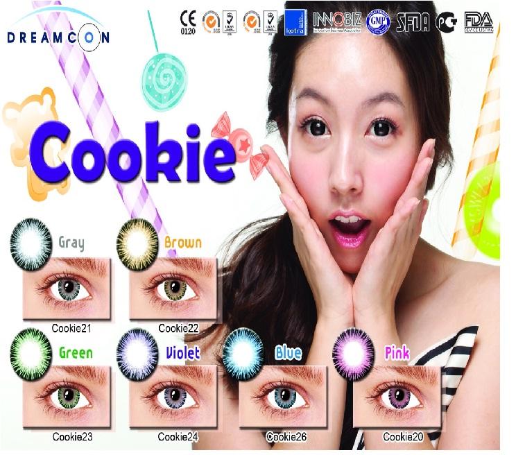 Cookie Gray Dreamcolor1 คอนแทคเลนส์ ขายส่งคอนแทคเลนส์ Bigeyeเกาหลี ขายส่งตลับคอนแทคเลนส์