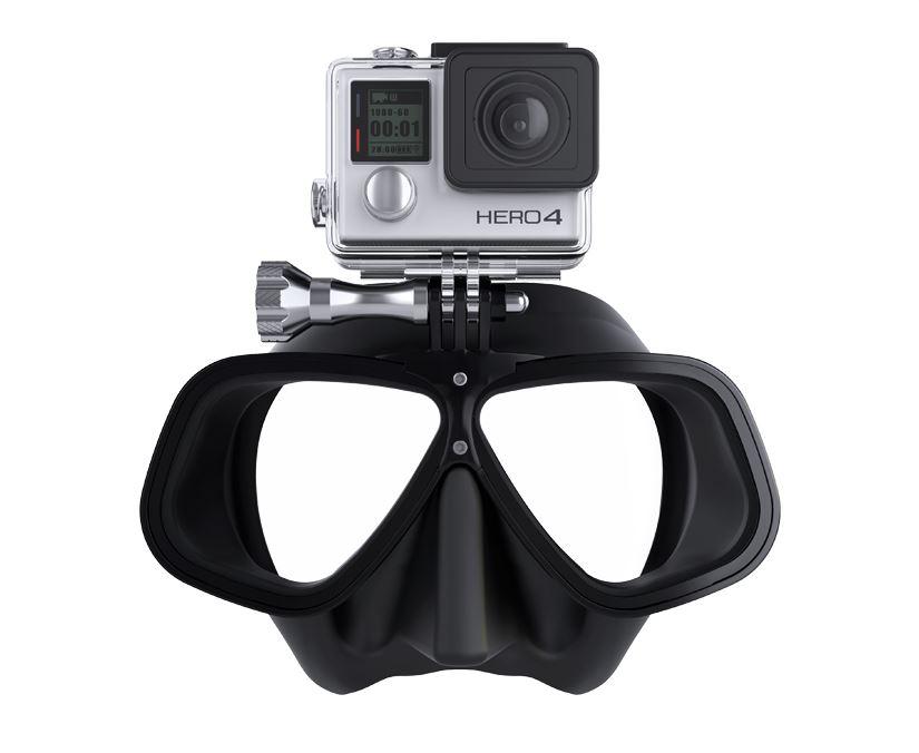 Octomask รุ่น Free Diving เป็นหน้ากากดำน้ำเลนส์คู่สำหรับกล้อง GoPro Hero4,Hero3+,Hero3,Hero2