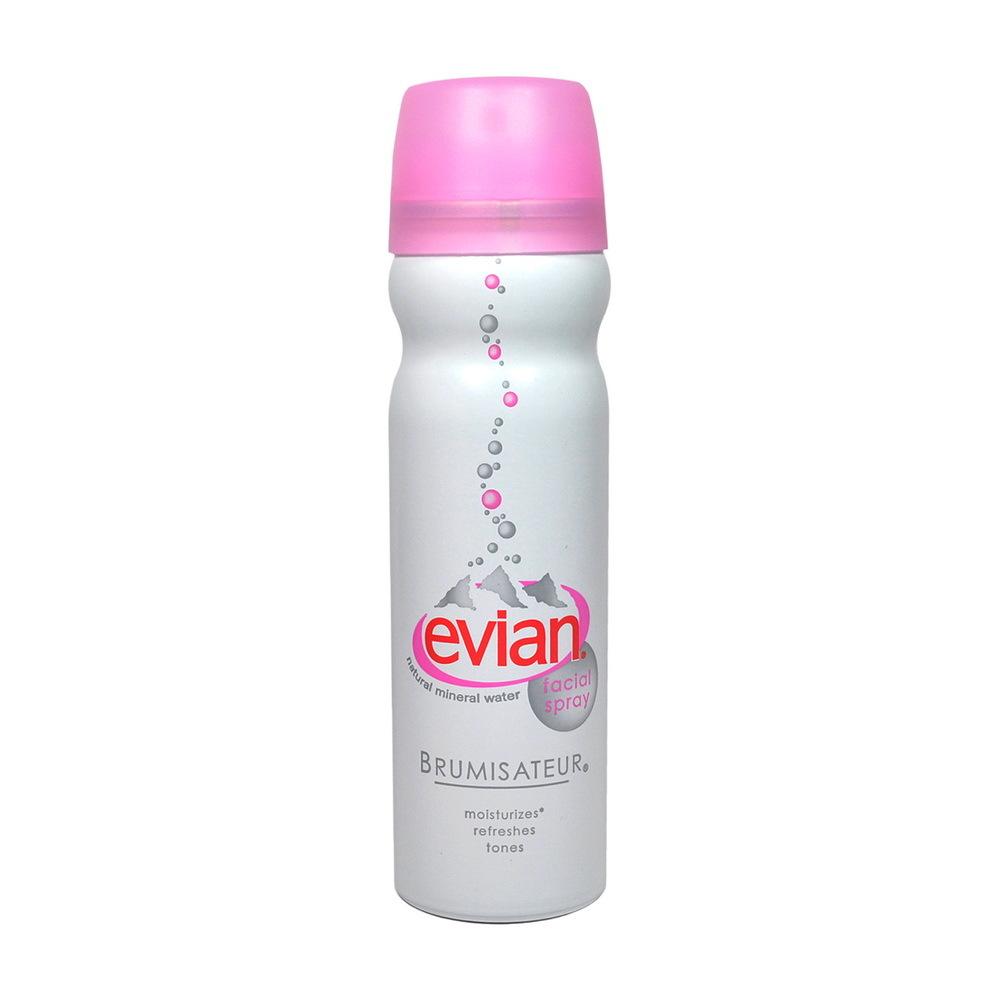 Evian Natural Mineral Water Facial Spray 50 mL (ขนาดพกพา) น้ำแร่บริสุทธิ์ อุดมไปด้วยแร่ธาตุ ใช้ฉีดพรมบนใบหน้า