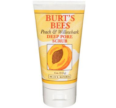 BURT'S BEES :: Burt's bee Peach and Willowbark Deep Pore Scrub สครับธรรมชาติ ผสานพลังของ พีช และ วิลโลบาร์ค ช่วยผลัดเซลล์ผิว