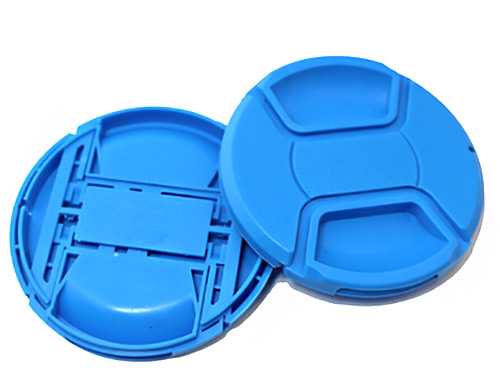 ฝาปิดหน้าเลนส์บีบกลาง สีฟ้า 58 mm