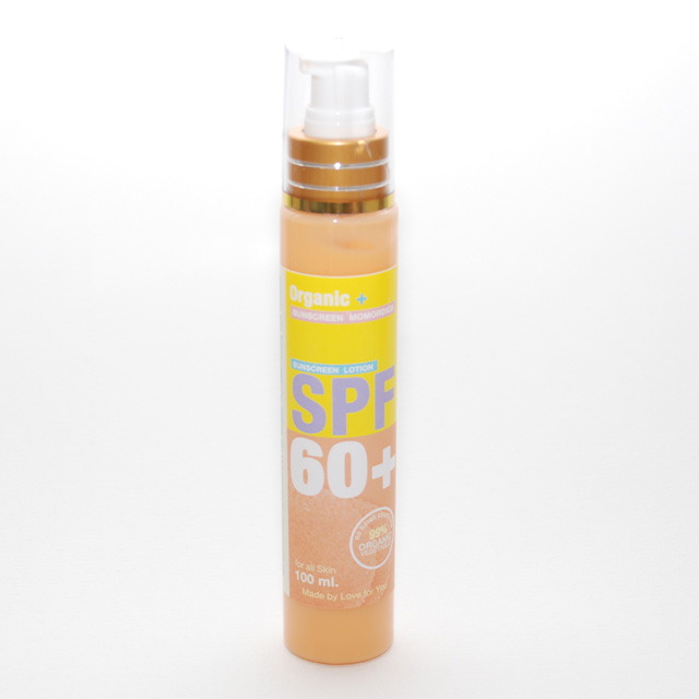 โลชั่นกันแดด Organic+ SPF 60 ไร้สารพิษจากธรรมชาติ