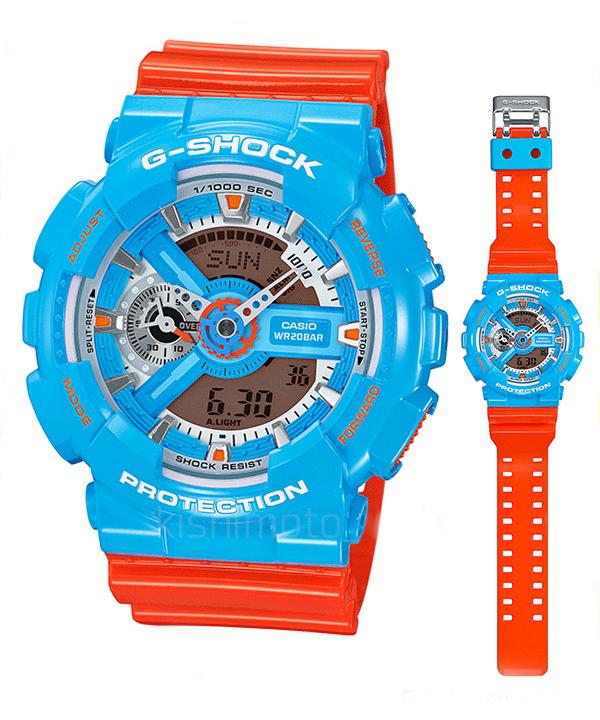นาฬิกา คาสิโอ Casio G-Shock Standard Analog-Digital รุ่น GA-110NC-2A สินค้าใหม่ ของแท้ ราคาถูก พร้อมใบรับประกัน