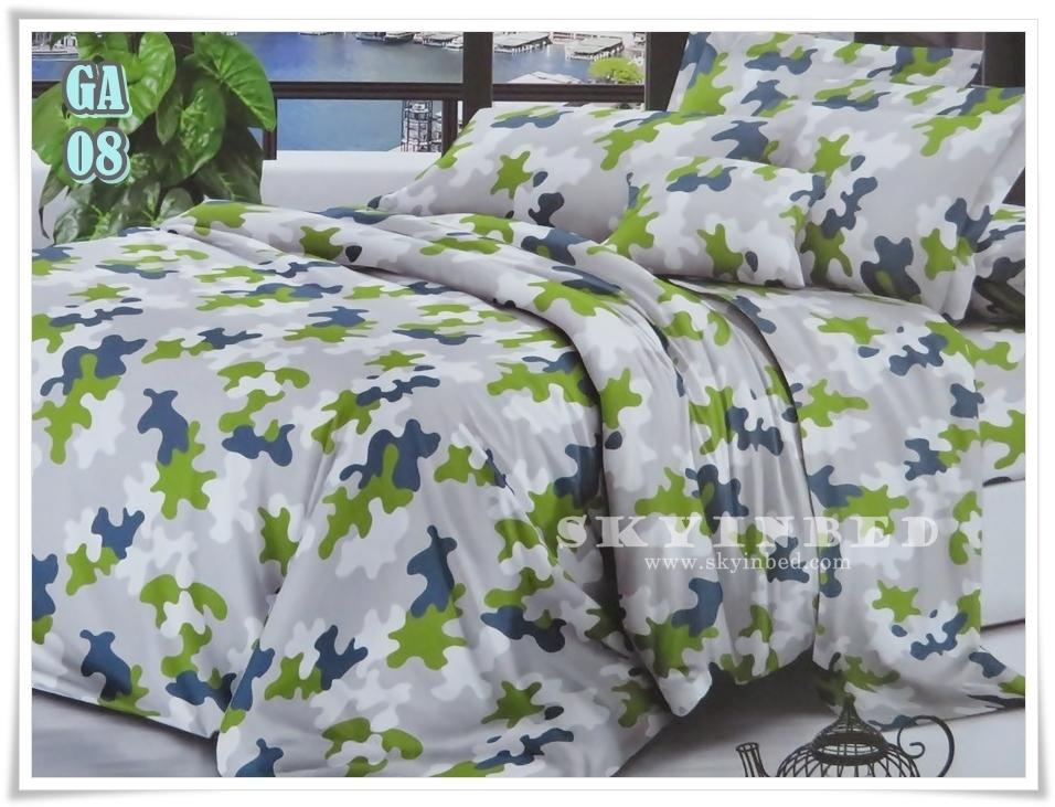 ผ้าปูที่นอน ลายกราฟฟิค ขนาด 6 ฟุต(5 ชิ้น)[GA-08]
