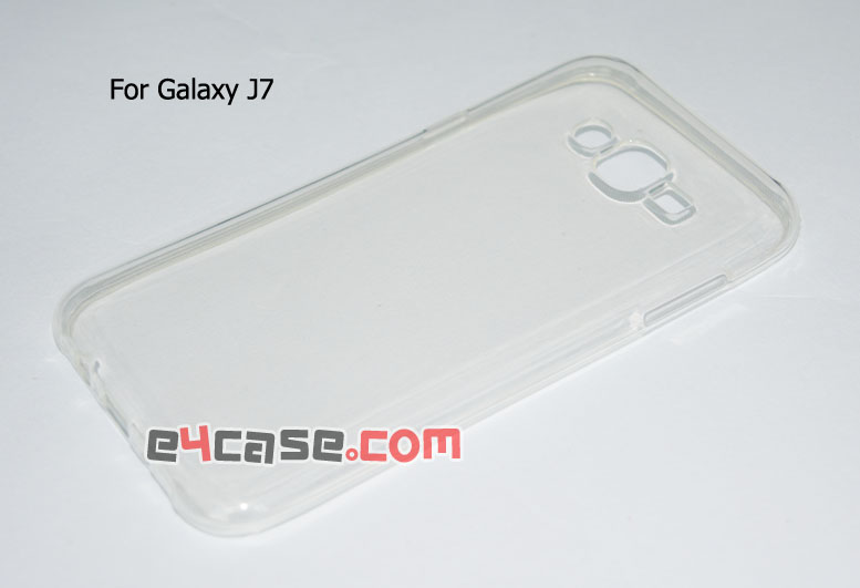 เคส Galaxy J7 (Samsung J700) - เคสยางใส มีดอท