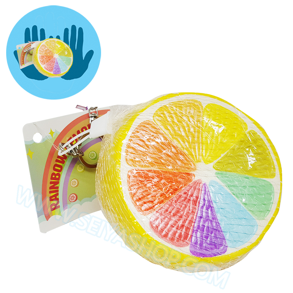 I392 สกุชชี่ Rainbow Lemon Squishy By Puni ขนาด 13 cm (Super Soft) ลิขสิทธิ์แท้