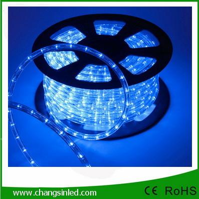 ไฟยาง LED Rope Light 36 leds แบบกลม 2 แกน สีนํ้าเงิน