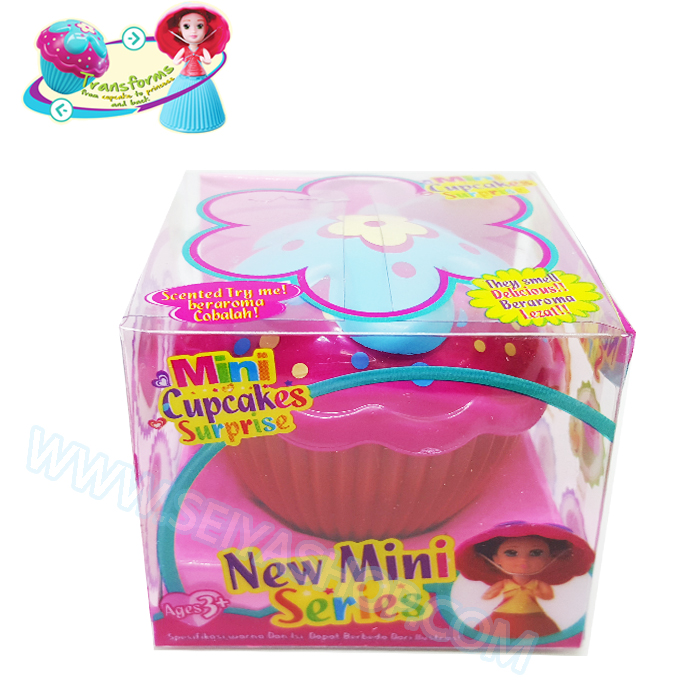 FL006 Mini cup cake Surprise มินิคัพเค้กเซอร์ไพรซ์ มีกลิ่นหอม- Straberry