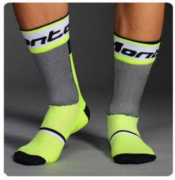 ถุงเท้าจักรยาน ถุงเท้าปั่นจักรยาน ถุงเท้ากีฬา MONTON ลายใหม่