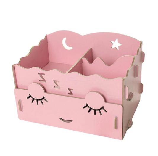 กล่องใส่ของจุกจิก DIY Cosmetic Box กล่องจัดระเบียบเครื่องสำอางบนโต๊ะ Box 001
