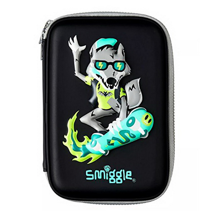 SMP033-B กล่องดินสอ 1 ชั้น Smiggle into the woods hardtop pencil case