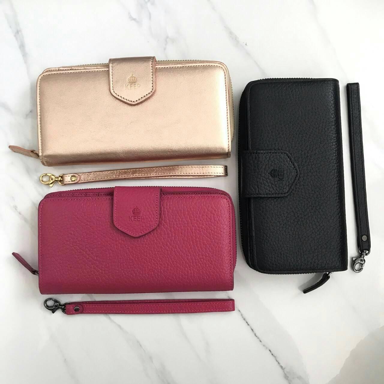 Keep Genuine Leather Clutch Wallet 2018 free Box