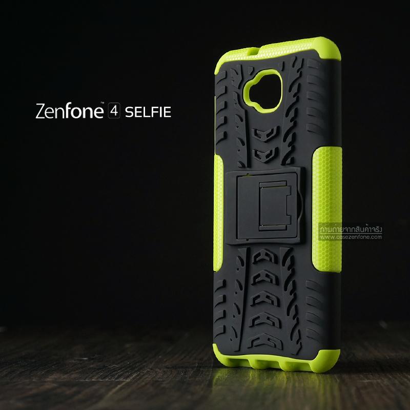 เคส Zenfone 4 Selfie ( ZD553KL ) กรอบบั๊มเปอร์ กันกระแทก Defender สีเขียวอ่อน (เป็นขาตั้งได้)