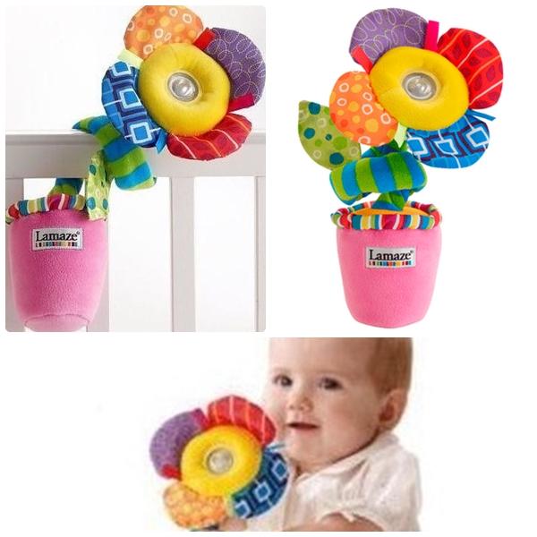 ของเล่นผ้า Lamaze กระถางดอกไม้คุณหนูอารมณ์ดี มีเสียงหัวเราะ มีไฟ ก้านพันขดได้