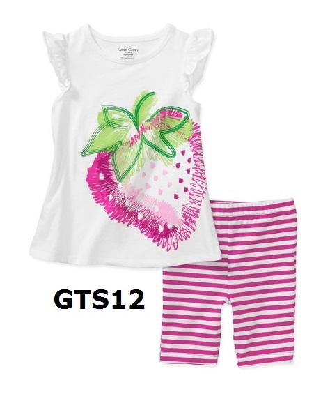 GTS12 เสื้อแขนสั้น+กางเกงขาสั้น Size 24M 3T ผ้า cotton หนา นิ่ม ยืดหยุ่น เนื้อผ้าดีมาก ใส่สบาย
