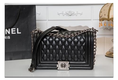 กระเป๋า CHANEL ขนาด 8 นิ้ว เกรดพรีเมี่ยม สีดำ