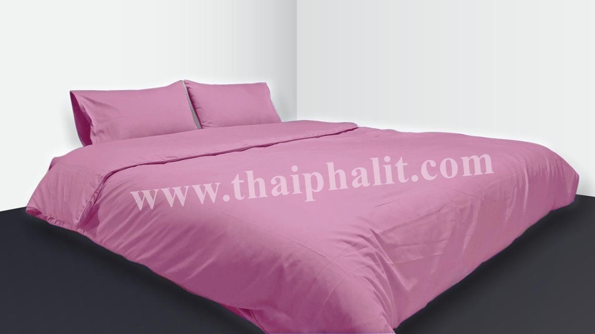 เซตผ้าปูที่นอนผ้าไมโครเทค สีม่วง (เบอร์ 12)