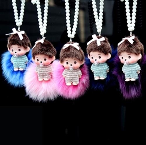 ตุ๊กตา ด.ช พิคุ + สร้อยมุก + พู่ ที่ห้อยหน้ารถ จากแฟชั่นเกาหลี