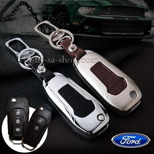 กรอบ-เคส ใส่กุญแจรีโมทรถยนต์ รุ่นโคเมี่ยม All New Ford Ranger,Everest 2015-18 Key 2-3 ปุ่ม