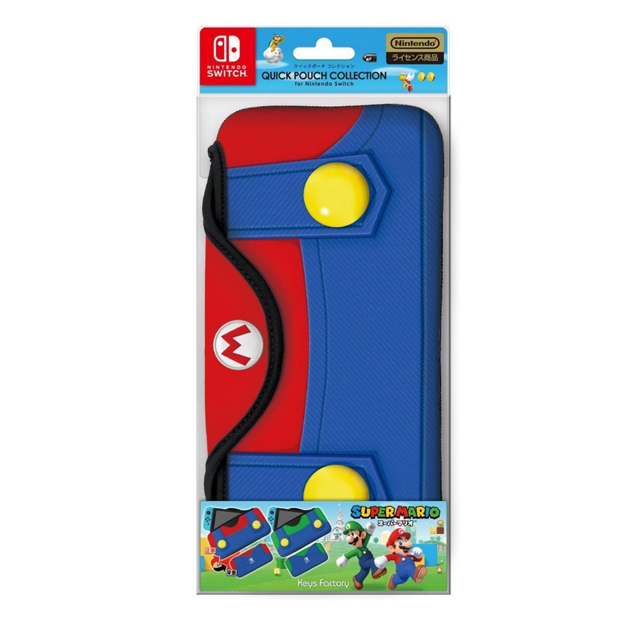 Quickpouch Mario Collection for Nintendo Switch (Type-A) กระเป๋าผ้านุ่ม กันกระแทก สีน้ำเงินแดง ลายมาริโอ ราคา 790.- */ส่งฟรี