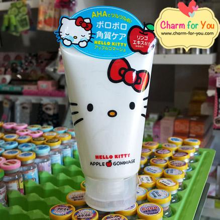 โฟมสครับผิวหน้าคิตตี้หลอดสีขาว สูตร Apple Gommage Made In japan ขายเครื่องสำอาง อาหารเสริม ครีม ราคาถูก ของแท้100%