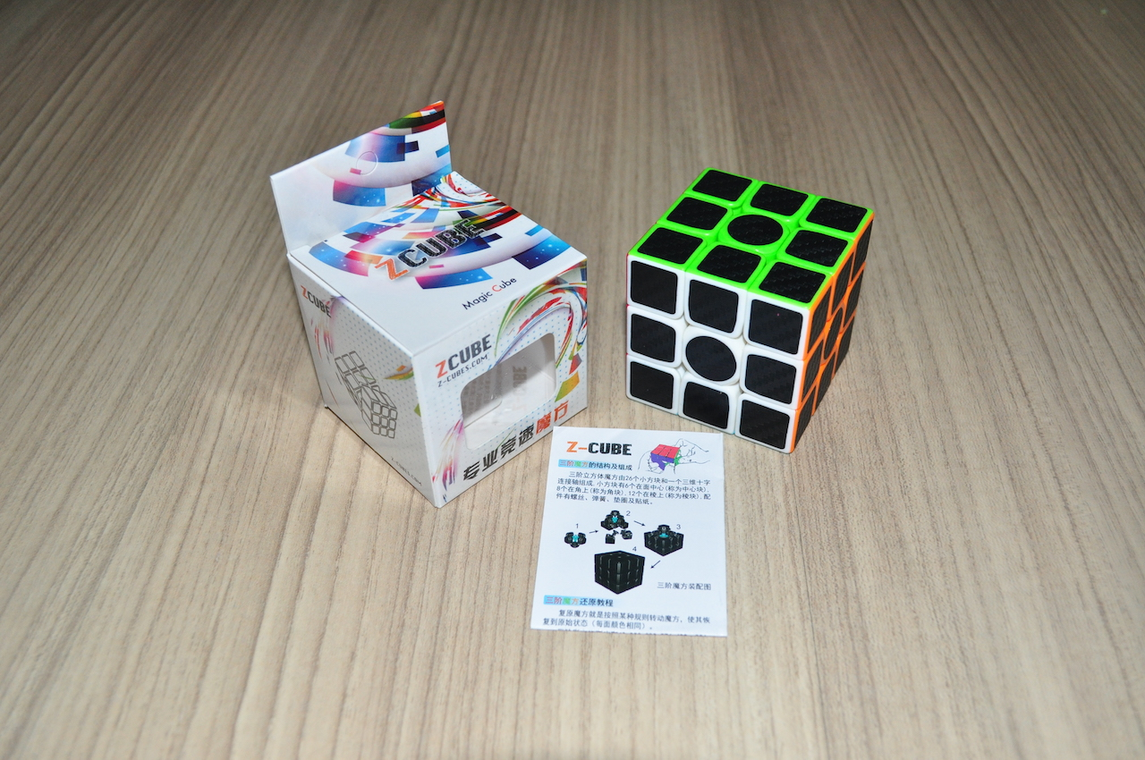 Z-Cube 3x3x3 with black carbon-fibre stickers Z-Bright