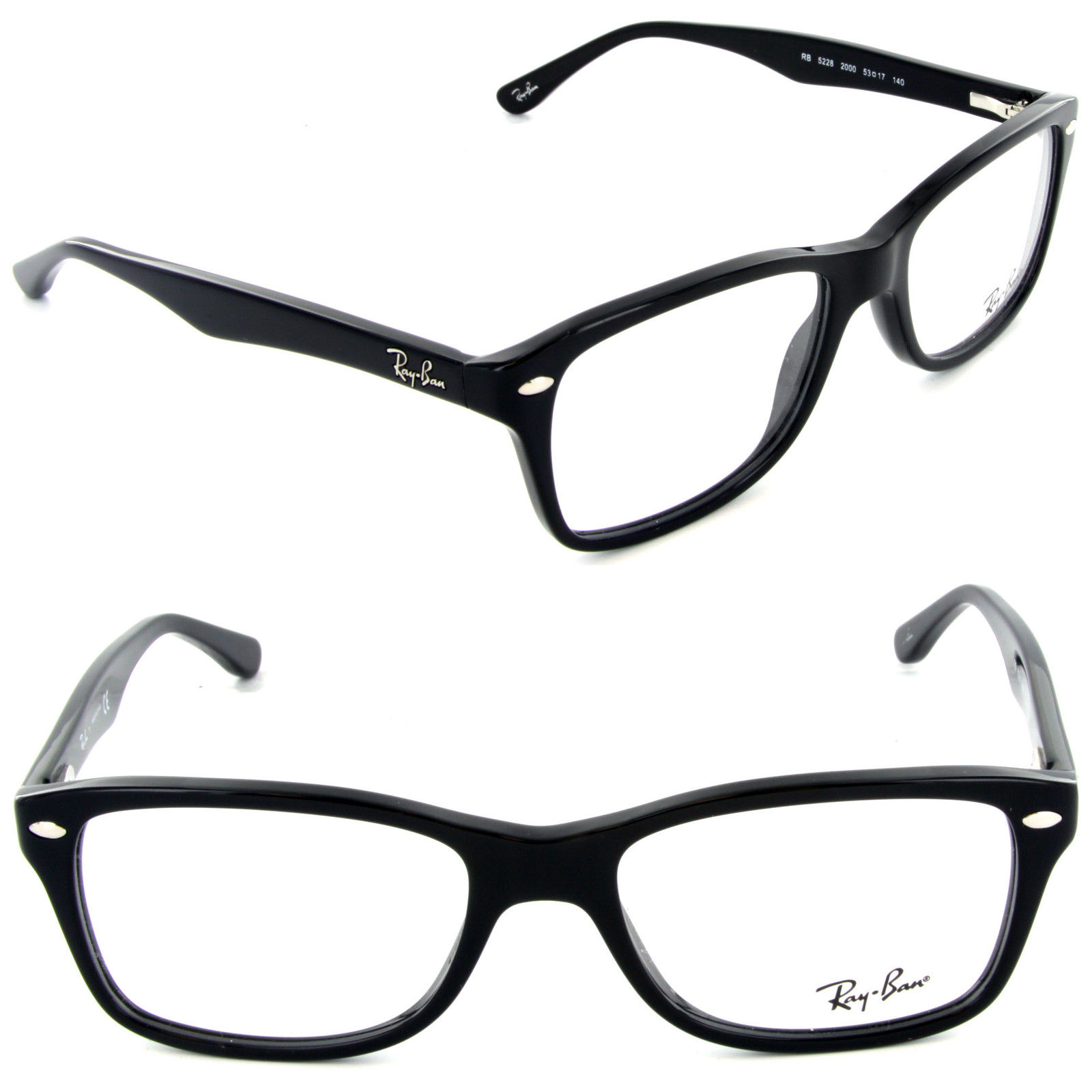 Ray Ban RX5228F 2000 Black Eyeglasses