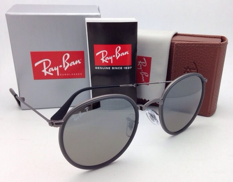 Ray-Ban Round Folding RB3517 029/N8 Gunmetal Grey Polarized