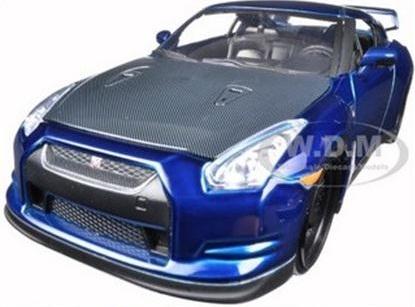 """พรีออเดอร์ รถเหล็ก รถโมเดล US """"FAST & FURIOUS 7"""" BRIAN'S 2009 NISSAN GTR R35 BLUE สเกล 1:24"""