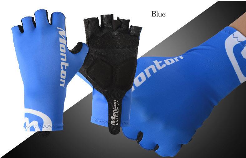 ถุงมือปั่นจักรยาน Monton : 114163182 สีน้ำเงิน