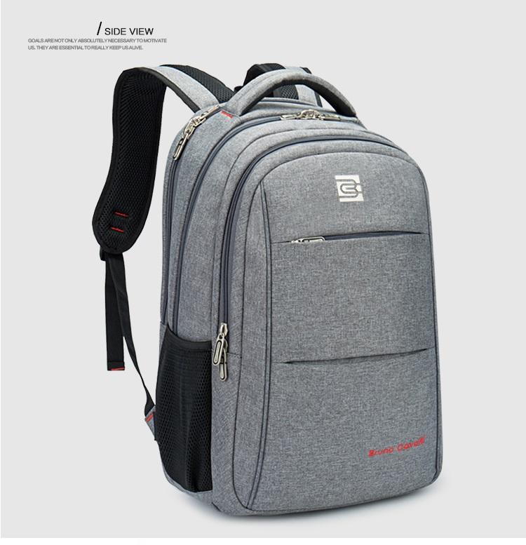 กระเป๋าสะพาย Bruno Cavalli (สีเทาอ่อน) ใส่ Notebook