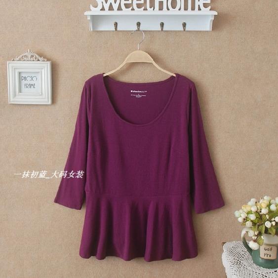 **พรีออเดอร์** เสื้้อยืดแฟชั่นเกาหลีใหม่ แขนยาว ใส่สบาย สำหรับผู้หญิงไซต์ใหญ่ / **Preorder** New Korean Fashion Long-Sleeved for Large Size Woman T-Shirt