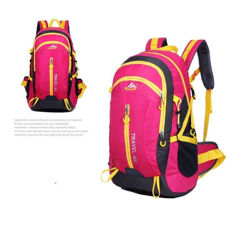 Outdoor mountaineering waterproof 40 ลิตร (สีชมพู)