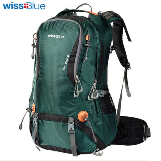 Super quality wissblue hiking backpack 40/50 ลิตร