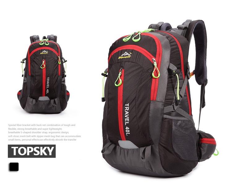 Nylon Mountaineering hiking backpack 40 สีดำ