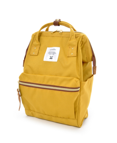New!! กระเป๋าเป้ Anello Canvas Yellow Standard ผ้าโพลีเอสเตอร์แคนวาสกันน้ำ