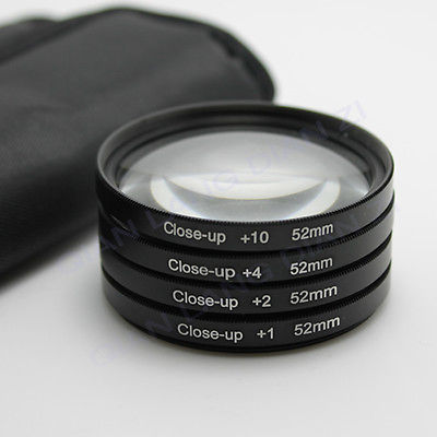 Filter Close UP +1 +2 +4 +10 Set 52 mm