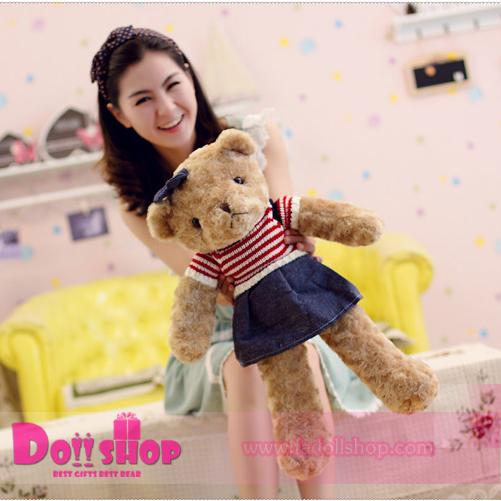 ตุ๊กตาหมีขนกุหลาบ ผู้หญิง 0.65 เมตร